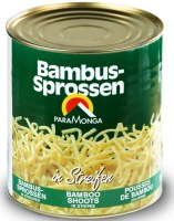 PARAMONGA Canned Bamboo shoots, in stripes, 2,65 kg / 1,8 kg