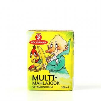 Multifruit drink PÕLTSAMAA, 200 ml