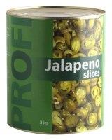 PROFI Canned green jalapeno slices, 4,5kg/2,2kg