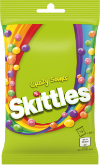 SKITTLES Crazy Sours Pouch, 125g