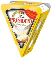 White mould cheese PRESIDENT Brie Natural, 32%, 125g