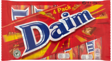 Chocolate bar DAIM 4 x 28 g